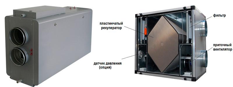 Приточная установка с рекуператором