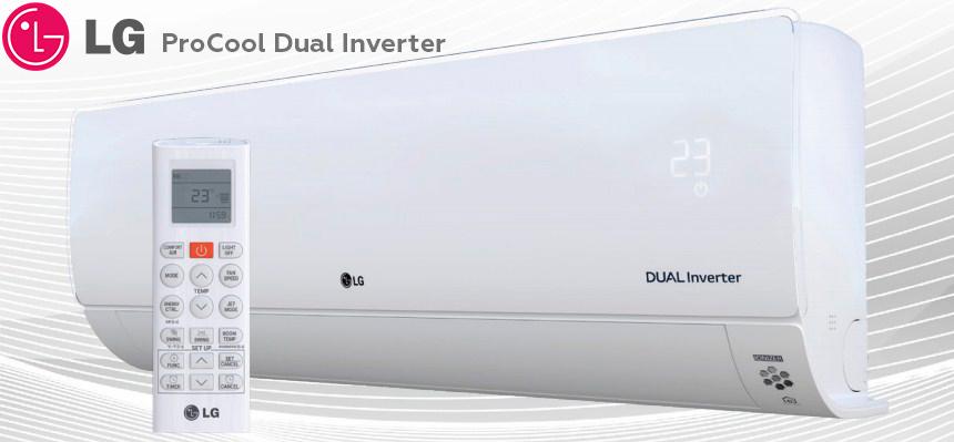 Настенные сплит системы LG серии Procool dual inverter