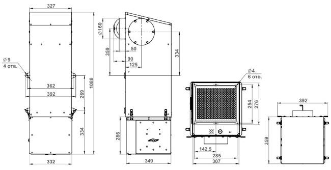 Габаритные размеры Minibox.Home-350 Zentec